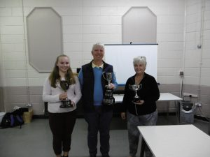 Our trophy winners Karl, Janet and Claudia